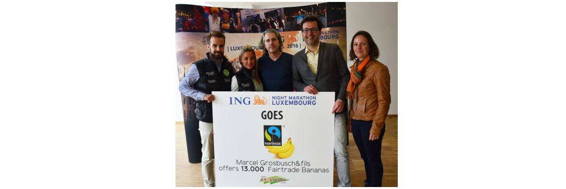 Bananes Fairtrade à l'ING NIGHT MARATHON