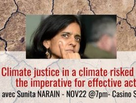 "Conférence ""Climate justice in a climate risked world : the imperative for effective action"""
