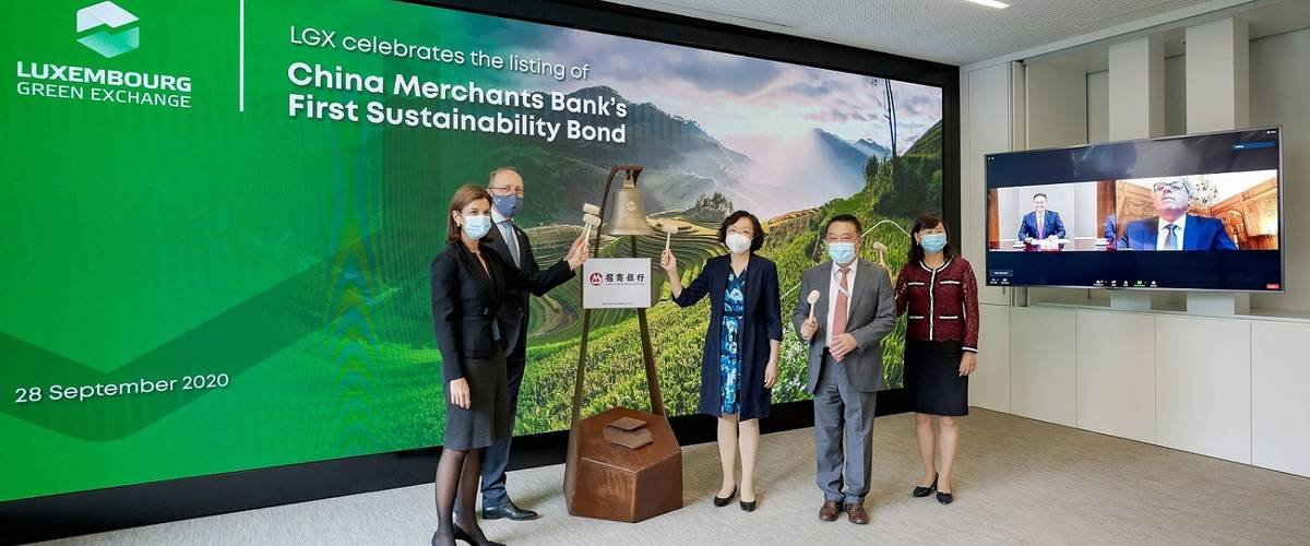 LuxSE, finance verte, China Merchants Bank, première obligation durable de CMB, plateforme verte de la bourse, ambassadeur de Chine au Luxembourg, développement durable