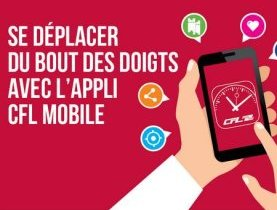 CFL, mobilité, chemin de fer luxembourgeois, application mobile, appli CFL, digital, transport public