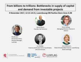 LuxFLAG invites to panel event at COP23 Luxembourg-EIB Pavilion