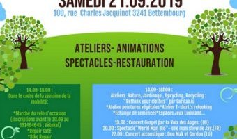 CELL, MJC Bettembourg, fête du jardin communautaire, nature, permaculture, recycling, upcycling, concerts, ateliers, restauration