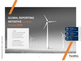 Forethix, formation, Global Reporting Initiative, reporting extra-financier, agenda