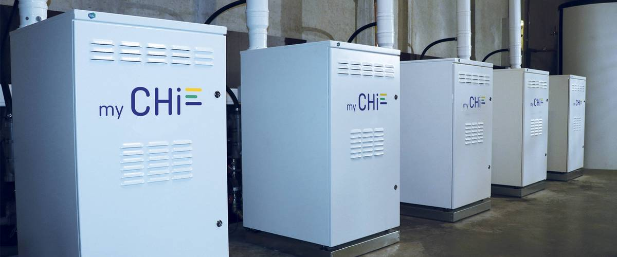 énergie, hydrogen technology, low-carbon electricity, CHi generates 100% sustainable, electricity, green gas, My CHi-electricity app, CHi-SMARTGRid battery module, Energy that's CO2neutral, hydrogen power plants