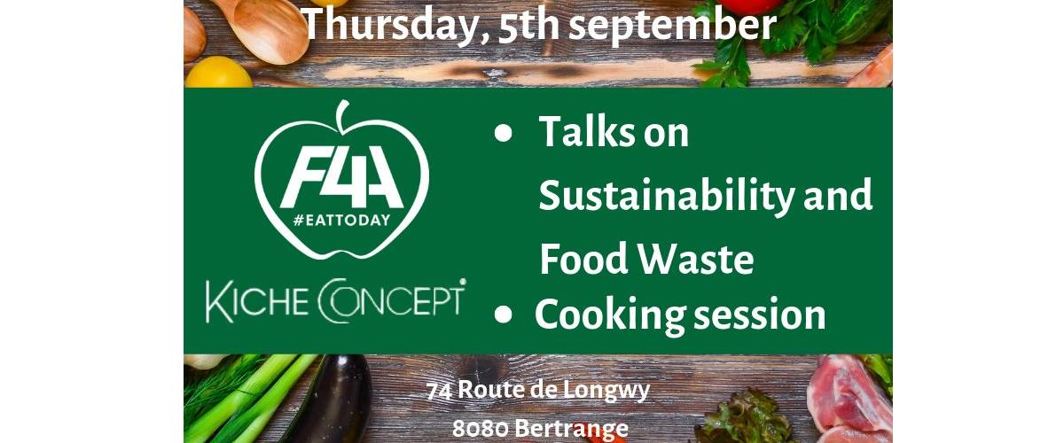 Sustainable, F4A, cooking, food waste, event, BoConcept & KicheConcept, Food for all